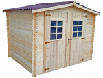 Abri Madriers bois massif / 28 mm / 6,16 m²