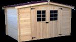 Abri Madriers bois massif / 28 mm / 9,58 m²
