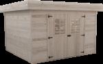 Abri Madriers bois massif / 28 mm / 7,97 m2