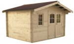 Abri Madriers bois massif / 42 mm / 12,74 m²