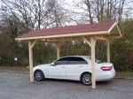 Carport double pente avec couverture bardeau bitumé / 3,00 x 3,62 m