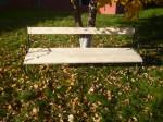 Banc de jardin OMEGA en frêne 4 personnes longueur 200 cm avec accoudoirs