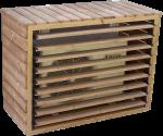 Cache climatiseur extérieur et pompe à chaleur fabriqué en bois massif traité très haute température / 1,32 x 0,58 x H 0,98 m