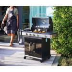 Barbecue gaz Américain FIDGI 4 brûleurs + réchaud latéral